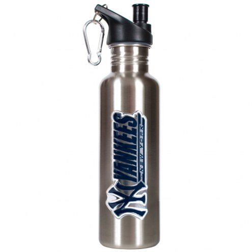 New York Yankees 26 oz. Water Bottle with Pop-Up Spout