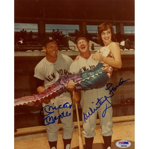 New York Yankees Whitey Ford and Mickey Mantle Dual Signed 8 x 10 Photo