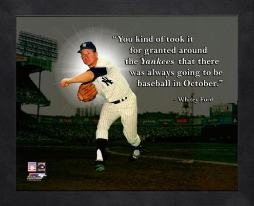 New York Yankees Whitey Ford Framed Pro Quote