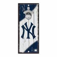 New York Yankees Wood Bottle Opener