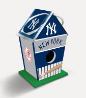 New York Yankees Wood Birdhouse