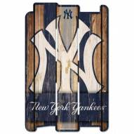 New York Yankees Wood Fence Sign