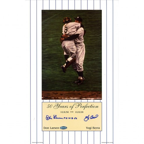 New York Yankees Yogi Berra/Don Larsen Dual Signed 50 Years of Perfection Color Lithograph
