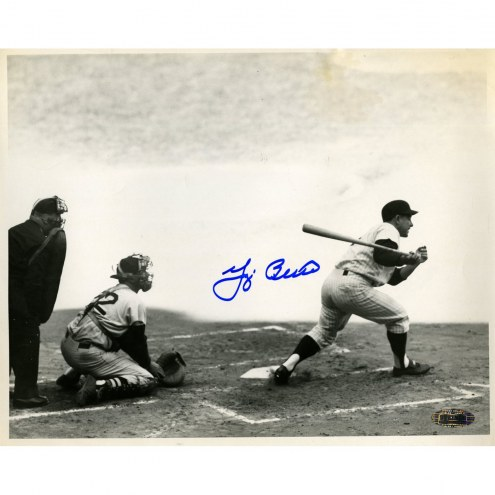 New York Yankees Yogi Berra Signed 8 x 10 B/W Photo (Grounding out to first 9/19/59 Red Sox Vs. Yankees)