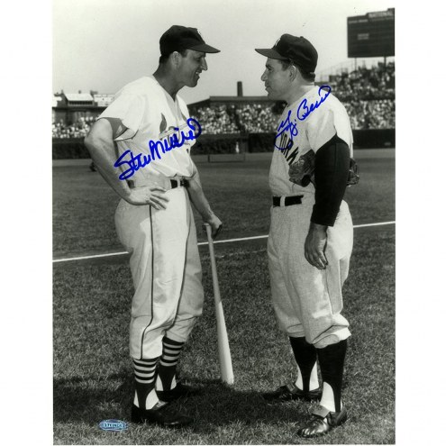 New York Yankees Yogi Berra/Stan Musial Dual Signed B/W 11 x 14 Photo Vertical