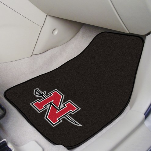 Nicholls State Colonels 2-Piece Carpet Car Mats
