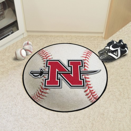 Nicholls State Colonels Baseball Rug
