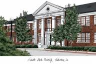 Nicholls State Colonels Campus Images Lithograph