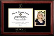 Nicholls State Colonels Gold Embossed Diploma Frame with Portrait