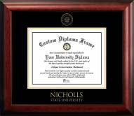 Nicholls State Colonels Gold Embossed Diploma Frame