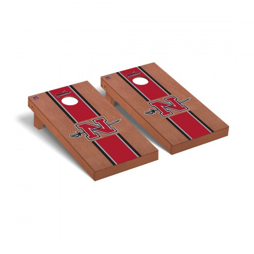 Nicholls State Colonels Rosewood Stained Cornhole Game Set