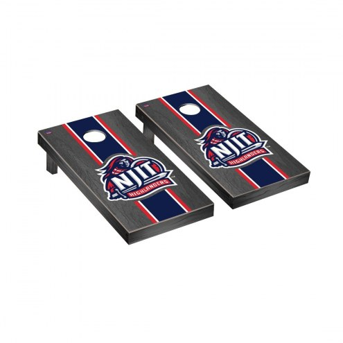 NJIT Highlanders Onyx Stained Cornhole Game Set