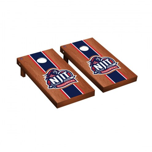 NJIT Highlanders Rosewood Stained Stripe Cornhole Game Set