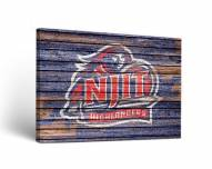 NJIT Highlanders Weathered Canvas Wall Art
