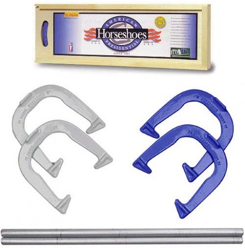 St. Pierre American Presidential Edition Horseshoe Set with Wood Case
