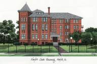 Norfolk State Spartans Campus Images Lithograph