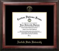 Norfolk State Spartans Gold Embossed Diploma Frame
