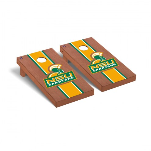 Norfolk State Spartans Rosewood Stained Cornhole Game Set