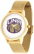 North Alabama Lions Gold Mesh Statement Watch
