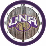 North Alabama Lions Weathered Wood Wall Clock