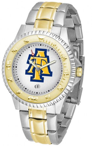 North Carolina A&T Aggies Competitor Two-Tone Men's Watch