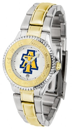 North Carolina A&T Aggies Competitor Two-Tone Women's Watch