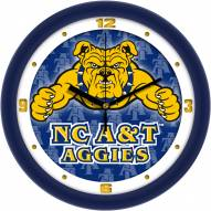 North Carolina A&T Aggies Dimension Wall Clock