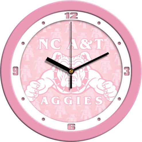 North Carolina A&T Aggies Pink Wall Clock