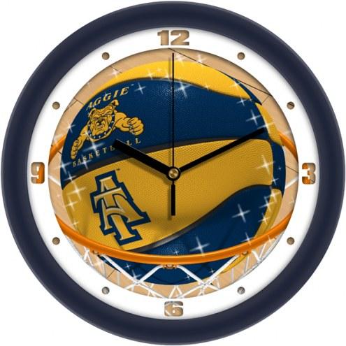 North Carolina A&T Aggies Slam Dunk Wall Clock