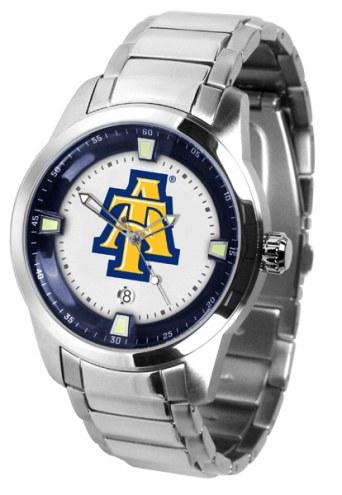North Carolina A&T Aggies Titan Steel Men's Watch