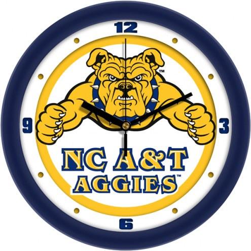 North Carolina A&T Aggies Traditional Wall Clock