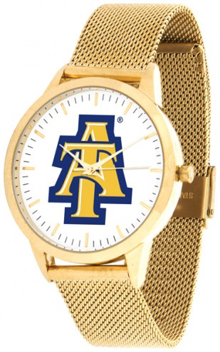 North Carolina A&T Aggies Gold Mesh Statement Watch