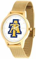 North Carolina A&T Aggies Gold Mesh Statement Watch