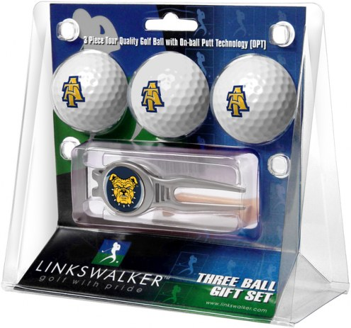 North Carolina A&T Aggies Golf Ball Gift Pack with Kool Tool