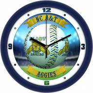 North Carolina A&T Aggies Home Run Wall Clock
