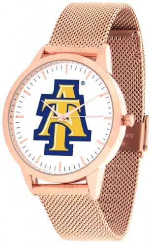 North Carolina A&T Aggies Rose Mesh Statement Watch