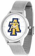 North Carolina A&T Aggies Silver Mesh Statement Watch