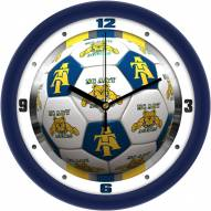 North Carolina A&T Aggies Soccer Wall Clock