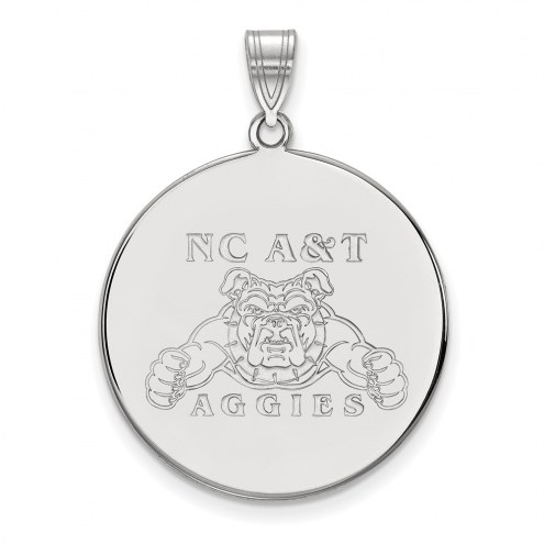 North Carolina A&T Aggies Sterling Silver Extra Large Disc Pendant
