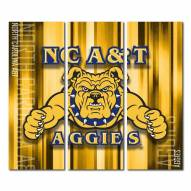 North Carolina A&T Aggies Triptych Rush Canvas Wall Art