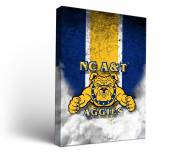 North Carolina A&T Aggies Vintage Canvas Wall Art