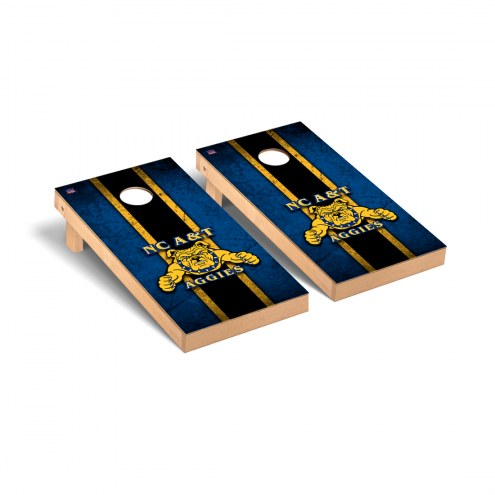 North Carolina A&T Aggies Vintage Wooden Cornhole Game Set