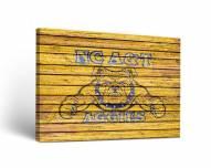 North Carolina A&T Aggies Weathered Canvas Wall Art