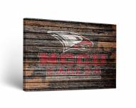 North Carolina Central Eagles Weathered Canvas Wall Art