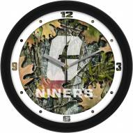 North Carolina Charlotte 49ers Camo Wall Clock