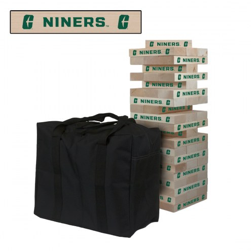 North Carolina Charlotte 49ers Giant Wooden Tumble Tower Game