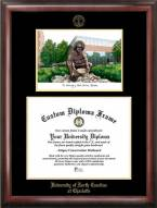 North Carolina Charlotte 49ers Gold Embossed Diploma Frame with Campus Images Lithograph