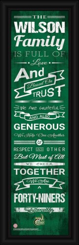 North Carolina Charlotte 49ers Personalized Family Cheer Framed Art