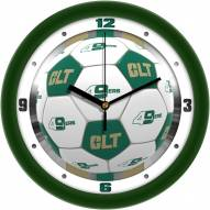 North Carolina Charlotte 49ers Soccer Wall Clock