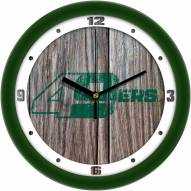 North Carolina Charlotte 49ers Weathered Wood Wall Clock